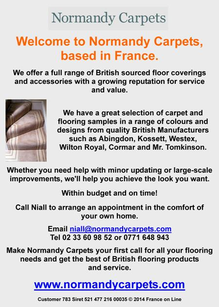 Normandy Carpets,British sourced floor coverings,accessories,carpets,flooring,Abingdon,Kossett,Wilton Royal,Cormar,Mr Tomkinson,UK carpets,English speaking carpet supplier and fitter in France,Brittany,Normandy