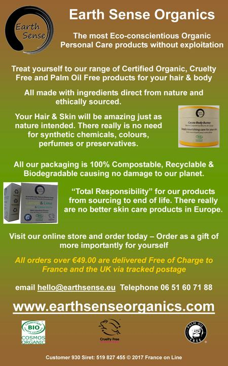 Earth Sense Organics,eco conscientious,organic personal care,health products,beauty products,certified organic,cruelty free,palm oil free,hair,body,nature,ethically sourced,skin