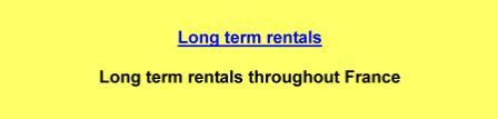 Long term rentals throughout France